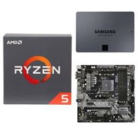 AMD Ryzen 5 2600 with Wraith Stealth Cooler, ASRock B450M Pro4 AM4, Samsung 860 QVO 1TB 4-bit Internal SSD, Computer Build Bundle