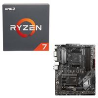 AMD Ryzen 7 2700X with Wraith Prism Cooler, MSI B450 Tomahawk, CPU / Motherboard Bundle