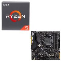 AMD Ryzen 5 2600 with Wraith Stealth Cooler, ASUS TUF B450M-PLUS Gaming, CPU / Motherboard Bundle