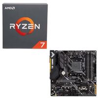 AMD Ryzen 7 2700 with Wraith Spire Cooler, ASUS TUF B450M-PLUS Gaming, CPU / Motherboard Bundle