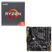 AMD Ryzen 5 2600X with Wraith Spire Cooler, ASUS TUF B450M-PLUS Gaming, CPU / Motherboard Bundle