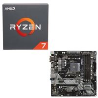 AMD Ryzen 7 2700 with Wraith Spire Cooler, ASRock B450M Pro4 AM4, CPU / Motherboard Bundle