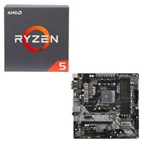 AMD Ryzen 5 2600X with Wraith Spire Cooler, ASRock B450M Pro4 AM4, CPU / Motherboard Bundle
