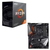 AMD Ryzen 5 3600 with Wraith Spire Cooler, Gigabyte X570 Aorus Ultra, CPU / Motherboard Bundle