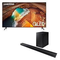 "Samsung QN75Q60RAFXZA 75"" Class Smart QLED TV bundled with HW-R650 340W 3.1-Channel Soundbar System"
