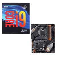 Intel Core i9-9900, Gigabyte Z390 Aorus Pro WiFi, CPU / Motherboard Bundle