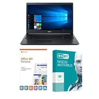 Acer Aspire 5 A515-54-597W, 1 Year Office 365 Personal, 1 Year NOD32 Antivirus, Laptop Bundle