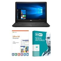 Dell Inspiron 15 3567, 1 Year Office 365 Personal, 1 Year NOD32 Antivirus, Laptop Bundle