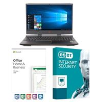 HP Omen 15-dc1052nr, Office 2019 Home and Business, 3 Year ESET Internet Security, Laptop Bundle