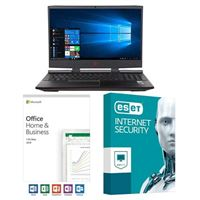 HP Omen 15-dc1054nr, Office 2019 Home and Business, 3 Year ESET Internet Security, Laptop Bundle