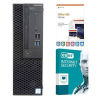Dell OptiPlex 3060 KM82W, 1 Year Office 365 Home, 2 Year ESET Internet Security, Desktop Computer Bundle