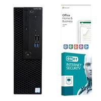 Dell OptiPlex 3060 KM82W, Office 2019 Home and Business, 2 Year ESET Internet Security, Desktop Computer Bundle