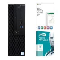 Dell OptiPlex 3060 KM82W, Office 2019 Home and Business, 2 Year NOD32 Antivirus, Desktop Computer Bundle