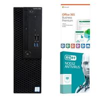 Dell OptiPlex 3060 KM82W, 1 Year Office 365 Business Premium, 3 Year NOD32 Antivirus, Desktop Computer Bundle