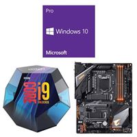 Intel Core i9-9900K, Gigabyte Z390 Aorus Pro WiFi, Windows 10 Pro 64-bit Computer Build Bundle