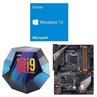 Intel Core i9-9900K, Gigabyte Z390 Aorus Pro WiFi, Windows 10 Home 64-bit Computer Build Bundle