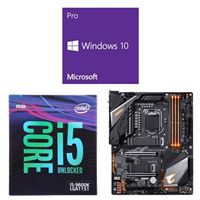 Intel Core i5-9600K, Gigabyte Z390 Aorus Pro WiFi, Windows 10 Pro 64-bit Computer Build Bundle