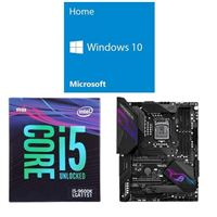 Intel Core i5-9600K, ASUS ROG Z390 Maximus XI Hero WiFi, Windows 10 Home 64-bit Computer Build Bundle