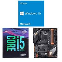 Intel Core i5-9600K, Gigabyte Z390 Aorus Pro WiFi, Windows 10 Home 64-bit Computer Build Bundle