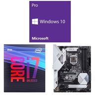 Intel Core i7-9700K, ASUS Prime Z390-A, Windows 10 Pro 64-bit Computer Build Bundle