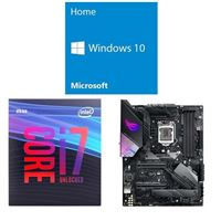 Intel Core i7-9700K, ASUS ROG Strix Z390-E Gaming, Windows 10 Home 64-bit Computer Build Bundle
