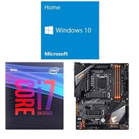 Intel Core i7-9700K, Gigabyte Z390 Aorus Pro WiFi, Windows 10 Home 64-bit Computer Build Bundle
