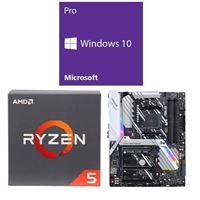 AMD Ryzen 5 2600, ASUS Prime X470-Pro, Windows 10 Pro 64-bit Computer Build Bundle