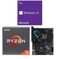 AMD Ryzen 5 2600, ASUS ROG Strix X470-F Gaming, Windows 10 Pro 64-bit Computer Build Bundle