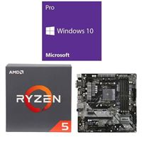 AMD Ryzen 5 2600, ASRock B450M Pro4, Windows 10 Pro 64-bit Computer Build Bundle