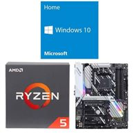 AMD Ryzen 5 2600, ASUS Prime X470-Pro, Windows 10 Home 64-bit Computer Build Bundle