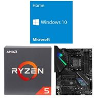 AMD Ryzen 5 2600, ASUS ROG Strix X470-F Gaming, Windows 10 Home 64-bit Computer Build Bundle