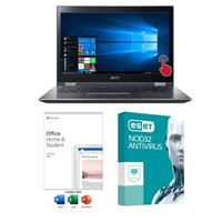 Acer Spin 3 SP314-52-39AH Laptop Computer bundled with Microsoft Office Home and Student 2019 and ESET NOD32 Antivirus 3 Year 1 PC