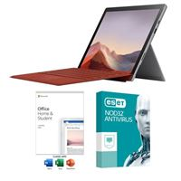 Microsoft Surface Pro 7 Platinum Laptop Computer bundled with Microsoft Office Home and Student 2019 and ESET NOD32 Antivirus 1 Year 1 PC
