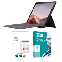 Microsoft Surface Pro 7 Black Laptop Computer bundled with Microsoft Office Home and Student 2019 and ESET NOD32 Antivirus 1 Year 1 PC