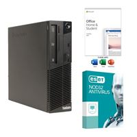 Lenovo ThinkCentre M93P Refurbished Desktop Computer bundled with Microsoft Office Home and Student 2019 and ESET NOD32 Antivirus 3 Year 1 PC