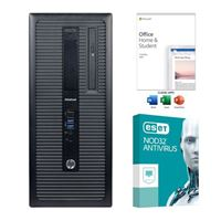 HP EliteDesk 800 G2 Refurbished Desktop Computer bundled with Microsoft Office Home and Student 2019 and ESET NOD32 Antivirus 3 Year 1 PC