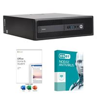HP EliteDesk 800 G2 SFF Desktop Computer bundled with Microsoft Office Home and Student 2019 and ESET NOD32 Antivirus 1 Year 1 PC