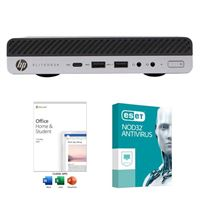 HP EliteDesk 705 G4 USFF Desktop Computer bundled with Microsoft Office Home and Student 2019 and ESET NOD32 Antivirus 1 Year 1 PC