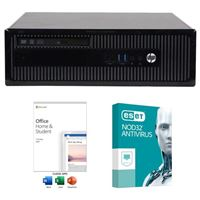 HP EliteDesk 800 G1 SFF Refurbished Desktop Computer bundled with Microsoft Office Home and Student 2019 and ESET NOD32 Antivirus 1 Year 1 PC