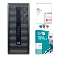 HP EliteDesk 800 G2 Refurbished Desktop Computer bundled with Microsoft Office Home and Student 2019 and ESET NOD32 Antivirus 1 Year 1 PC
