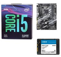 "Intel Core i5-9400F, Gigabyte Z390 UD, Crucial BX500 2TB 2.5"" SSD Computer Build Bundle"