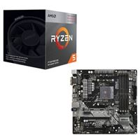 AMD Ryzen 5 3400G with Wraith Spire Cooler, ASRock B450M Pro4, CPU / Motherboard Bundle