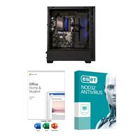PowerSpec B743 Desktop Computer bundled with Microsoft Office Home and Student 2019 and ESET NOD32 Antivirus 3 Year 1 PC