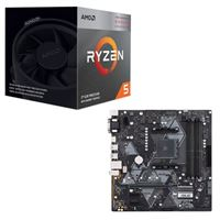 AMD Ryzen 5 3400G with Wraith Spire Cooler, ASUS B450M-A/CSM Prime, CPU / Motherboard Bundle