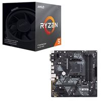 AMD Ryzen 5 3600X with Wraith Spire Cooler, ASUS B450M-A/CSM Prime, CPU / Motherboard Bundle