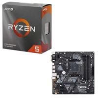 AMD Ryzen 5 3600 with Wraith Stealth Cooler, ASUS B450M-A/CSM Prime, CPU / Motherboard Bundle