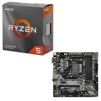 AMD Ryzen 5 3600 with Wraith Stealth Cooler, ASRock B450M Pro4, CPU / Motherboard Bundle