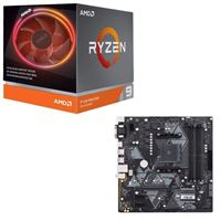 AMD Ryzen 9 3900X with Wraith Prism Cooler, ASUS B450M-A/CSM Prime, CPU / Motherboard Bundle