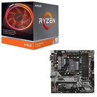 AMD Ryzen 9 3900X with Wraith Prism Cooler, ASRock B450M Pro4, CPU / Motherboard Bundle