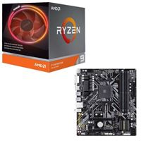 AMD Ryzen 9 3900X with Wraith Prism Cooler, Gigabyte B450M DS3H, CPU / Motherboard Bundle